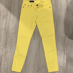 Jcrew yellow ankle jeans. Size 24